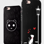 Case iPhone 6 Plus / 6s Plus (5.5 นิ้ว) พลาสติก TPU มีความยืดหยุ่นในตัว สีดำสวยงามสกรีนลายกราฟฟิคต่างๆ ราคาถูก