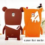 case note 3 เคส Samsung Galaxy note 3 ซิลิโคนจิ้งจอกน้อยน่ารัก สีส้ม สีน้ำตาล ราคาส่ง ขายถูกสุดๆ