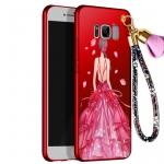 เคส Samsung S8 Plus พลาสติกลายผู้หญิงแสนสวย พร้อมที่คล้องมือ สวยมากๆ ราคาถูก