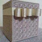 กล่องทิชชูแผ่นเฟรมสีทองมีโบว์