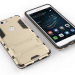 เคส Huawei P9 Plus เคสกันกระแทกแยกประกอบ 2 ชิ้น ด้านในเป็นซิลิโคนสีดำ ด้านนอกพลาสติกเคลือบเงาโลหะเมทัลลิค มีขาตั้งสามารถตั้งได้ สวยมากๆ เท่สุดๆ ราคาถูก