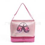กระเป๋า สีชมพูม่วง แพ็ค 3 ใบ เหมาะสำหรับเด็ก 2-12 ปี