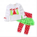 เสื้อ+กางเกง คริสต์มาส 16293 สีขาว แพ็ค 5 ชุด ไซส์ 80-90-100-110-120 (เลือกไซส์ได้)