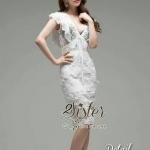 [พร้อมส่ง] เสื้อผ้าแฟชั่นเกาหลี เดรสลูกไม้ลุคสาวมั่น ผ้าเกรดดีแต่งเย็บลายลูกไม้สีขาวมีมิติสวย