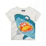 เสื้อลายฉลามสีขาว [size 2y-3y-4y-5y-6y-7y]