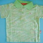 KPP019 Kidsplanet เสื้อเด็กชาย โปโลแขนสั้น สีเขียวอมเหลือง เหลือ Size 18M
