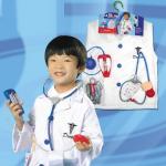 ชุดคุณหมอ+อุปกรณ์ตามรูป แพ็ค 3 ชุด ฟรีไซส์ (เหมาะสำหรับ 3-8 ขวบ)