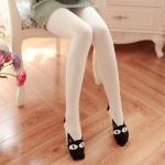 [พร้อมส่ง] L6735 เลกกิ้งเนื้อถุงเท้ากันหนาว แบบเต็มตัว ทอลายหน้าแมวที่ปลายเท้า
