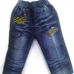 J1010 กางเกงยีนส์เด็กชาย ดีไซส์ลายปักเท่ห์ทั้งด้านหน้า-หลัง เอวยางยืด Size 4-6 ขวบ ขายปลีกในราคาส่งให้เลยจ้า