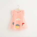 ชุดกระโปรง สีชมพู แพ็ค 5ชุด ไซส์ 7-9-11-13-15