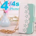 เคส iphone 4 เคสไอโฟน4s ทำเป็นกระเป๋าสะพายดอกไม้ฉลุสวยๆ ราคาส่ง ขายถูกสุดๆ