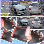 ผลิตและจำหน่ายพรมปูพื้นรถยนต์เข้ารูป BMW Z4 ลายกระดุมสีดำขอบแดง