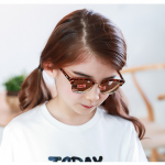 แว่นตา (UV400) ลายเสือดาวเลนส์สีชมพู แพ็ค 5อัน ฟรีไซส์