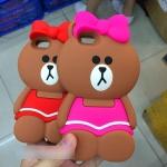 Case iPhone 5s,Case iPhone 5,Case iPhone 5SE ซิลิโคน TPU 3 มิติ หมีน้อยแสนน่ารัก ราคาถูก