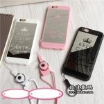 Case iPhone SE / 5s / 5 พลาสติก + ขอบ Acrylic วัสดุเลียนแบบกระจกเงา ราคาถูก (ไม่รวมสายคล้อง)