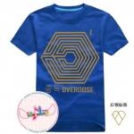 เสื้อยืดแฟชั่น EXO Overdose LOGO EXO สีน้ำเงิน
