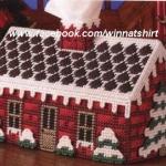 แพทเทิร์นกล่องทิชชูทรงยาวรูปบ้าน
