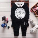 เสื้อ+กางเกง สีดำ แพ็ค 4ชุด ไซส์ 90-100-110-120