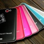 เคส Note 2 Case Samsung Galaxy Note 2 II N7100 แผ่นพลาสติกลายเส้นโลหะใส่หลังเครื่องแทนอันเก่าได้เลย บางเบาสวยเรียบตัดขอบขาวใส่แล้วสวยมากๆ Brushed metal white border series
