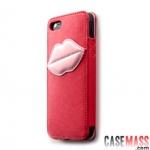 case iphone 5 เคสไอโฟน5 Monroe's Kiss series เคสหนัง PU แบบสวม มีริมฝีปากเย็บ สามารถใส่บัตรตรงริมฝีปากได้ สวยๆ น่ารักสุดๆ