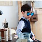 แว่นตา (UV400) กรอบดำเลนส์สีฟ้า แพ็ค 5อัน ฟรีไซส์