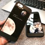 Case iPhone 7 (4.7 นิ้ว) พลาสติกลายโลกและดวงจันทร์ สวยงามมากๆ ราคาถูก (ไม่รวมสายคล้อง)