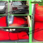 ขายพรมปูพื้นรถยนต์ราคาถูก Volvo S80 ไวนิลสีแดงขอบดำ