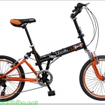 จักรยานพับได้โช๊คหน้า+หลัง 7สปีด Winn Vanilla