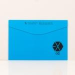 แฟ้มพลาสติก EXO สีฟ้า