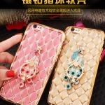 เคส iPhone 6 Plus / 6s Plus ซิลิโคนแบบเคสนิ่มเงางามสวยหรู พร้อมแหวนสำหรับตั้งมือถือ ราคาถูก