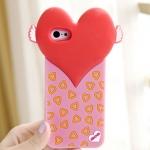 case iphone 5c เคสไอโฟน5c เคสซิลิโคน 3D รูปหัวใจดวงใหญ่ติดปีก น่ารักๆ