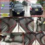 ยางปูพื้นรถยนต์เข้ารูป Subaru XV สนุ๊กสีดำขอบแดง