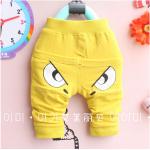 กางเกง สีเหลือง แพ็ค 4ชุด ไซส์ 1-3-5-7