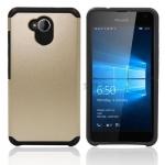 เคส Microsoft Lumia 650 เคสกันกระแทกแยกประกอบ 2 ชิ้น ด้านในเป็นซิลิโคนสีดำ ด้านนอกพลาสติก สวยมากๆ เท่สุดๆ ราคาถูก