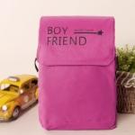 กระเป๋าสะพายBOY FRIEND (สี่เหลี่ยมสีชมพู)