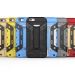 เคส iPhone 5C เคสกันกระแทกแยกประกอบ 2 ชิ้น ด้านในเป็นซิลิโคนสีดำ ด้านนอกพลาสติกเคลือบเงาโลหะเมทัลลิค มีขาตั้งสามารถตั้งได้ สวยมากๆ เท่สุดๆ ราคาถูก