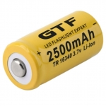 ถ่านชาร์จแบบ Li-ion 2500mAh 3.7V รุ่น CR123A 123A CR123 16340 LR123A