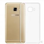 เคส Samsung C9 Pro ซิลิโคนโปร่งใสผิวกันลื่น โชว์ตัวเครื่องเต็มที่ ราคาถูก
