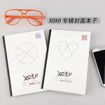 สมุดปกอ่อน EXO-K XOXO(โลโก้หัวใจ)