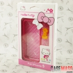 case iphone 5 เคสไอโฟน5 ขอบเคสติดโบว์น่ารักๆ Hello kitty bow border shell