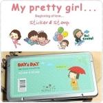 Pretty Girl Sticker&Stamp (DAY&DAY)