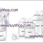Pre Order - Avent Manual Breast Pump Natraul & Starter Kit Bottle Natural (ขวดรุ่นใหม่)