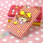 case iphone 5 เคสไอโฟน5 เคสหนังฝาพับข้าง สีหวานๆ ลายการ์ตูนน่ารักๆ Cartoon witch iPhone5 phone holster