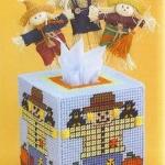 ชุดปักแผ่นเฟรมกล่องทิชชูลายหุ่นไล่กา