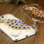 เคส Note 2 Case Samsung Galaxy Note 2 II N7100 เคสใสประดับเพชรคริสตัลรูปนกยูง หรูหรา อลังการ สวยงามมากๆ Zhang Ziyi same section peacock diamond shell mobile phone sets