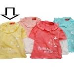 KGTL161L Kidsplanet เสื้อยืดเด็กหญิงต่อแขนสีเหลือง คอระบาย สกรีนลาย La Passion Des Artisans Size 3Y