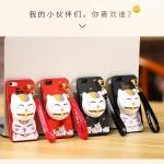 เคส iPhone SE / 5s / 5 พลาสติกสกรีนลายการ์ตูนแมวกวักนำโชค Lucky Neko พร้อมที่ตั้งและที่เก็บสายในตัวคุ้มค่ามากๆ ราคาถูก