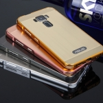 Case Asus Zenfone 3 (5.5 นิ้ว ZE552KL) ขอบเคสโลหะ Bumper + พร้อมแผ่นฝาหลังเงางามสวยจับตา ราคาถูก
