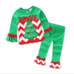 เสื้อ+กางเกง คริสต์มาส 16288 สีเขียว แพ็ค 5 ชุด ไซส์ 80-90-100-110-120 (เลือกไซส์ได้)