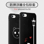 Case iPhone SE / 5s / 5 พลาสติก TPU มีความยืดหยุ่นในตัว สีดำสวยงามสกรีนลายกราฟฟิคต่างๆ ราคาถูก
